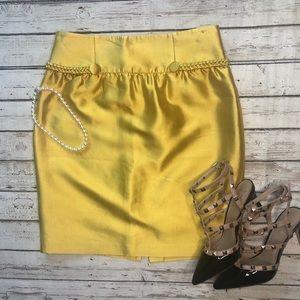 Reiss Gold Silk Skirt